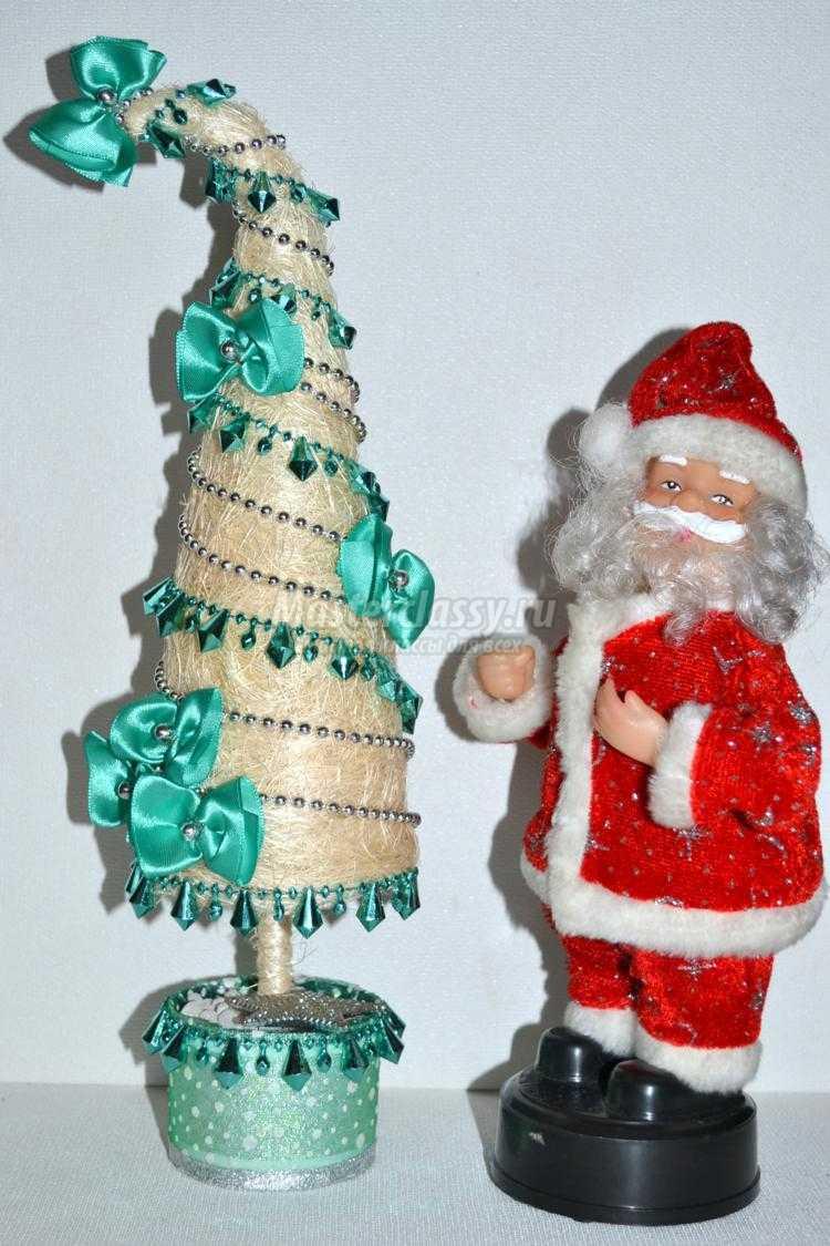 1449333821_dsc_0108_750x1125 Декоративная новогодняя елочка из сизаля. Мастер-класс с фото