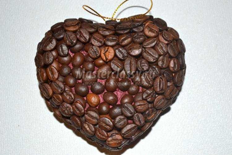 елочная игрушка из кофейных зерен