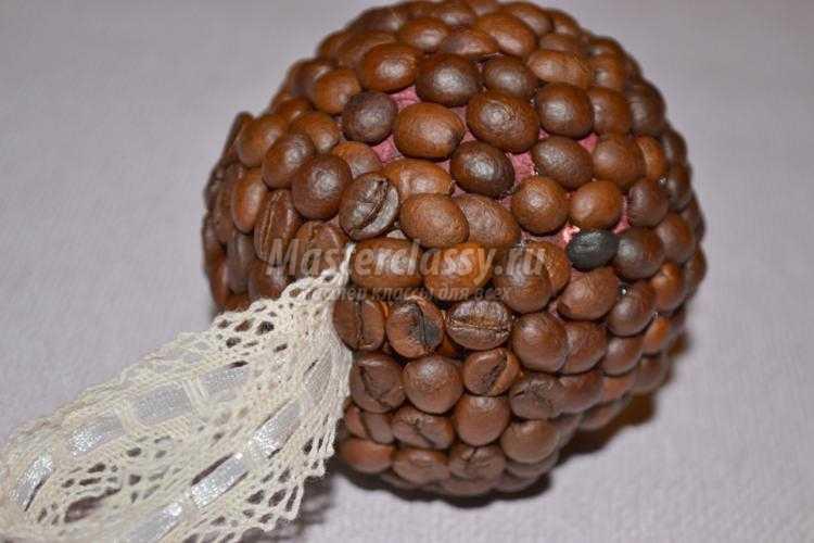 кофейный шар на новогоднюю елочку