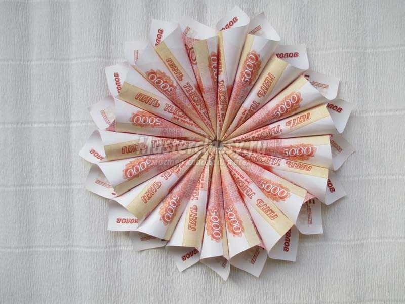 денежный цветок своими руками