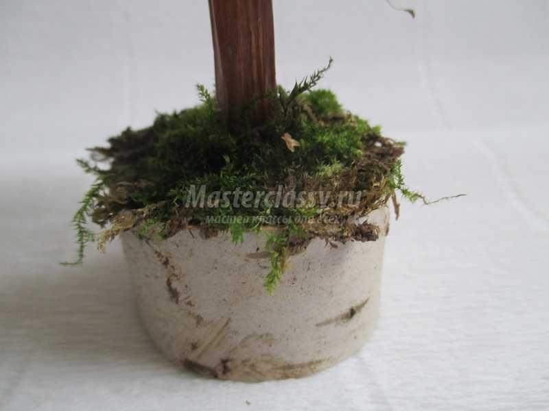 поделка елочка из природного материала