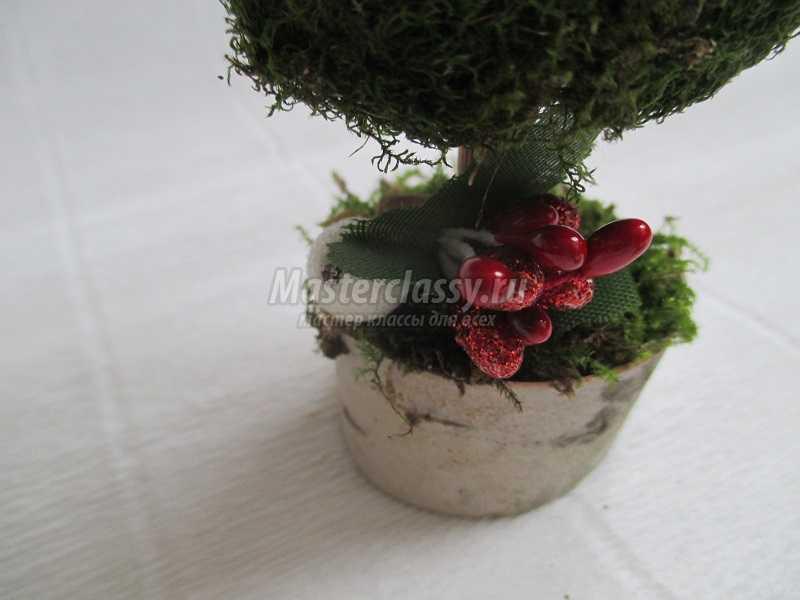 новогодняя елочка из природного материала