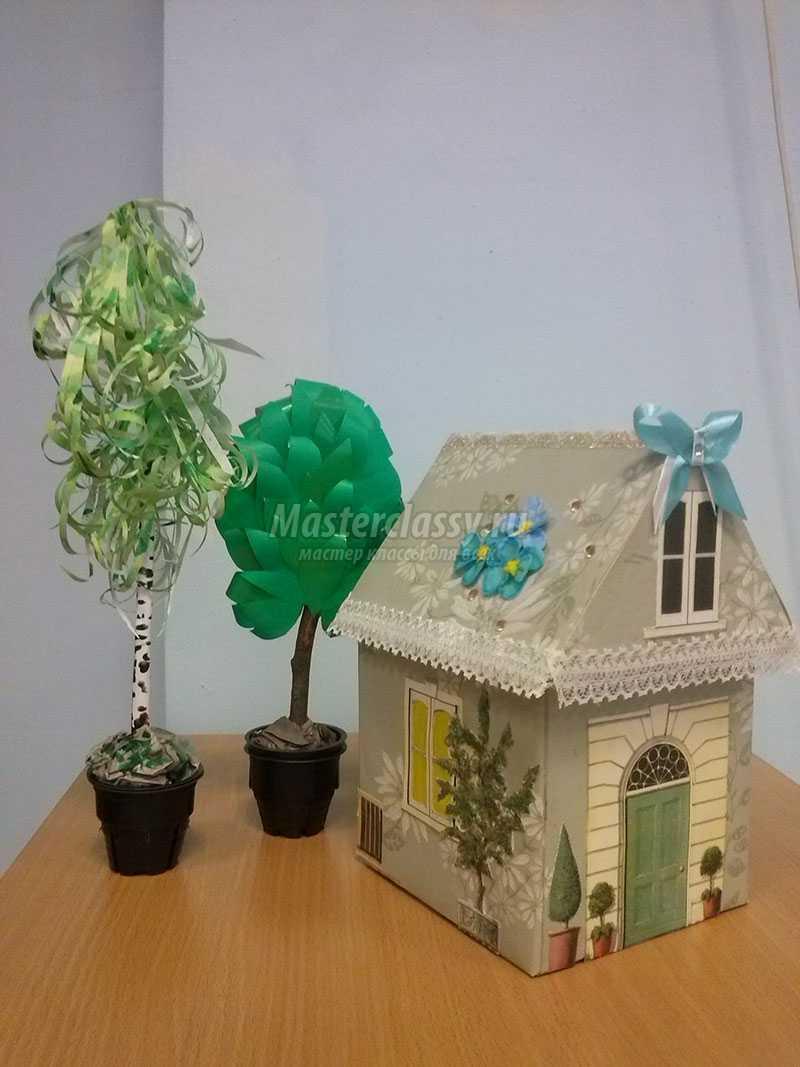 Поделки домов из разных материалов своими руками фото 336