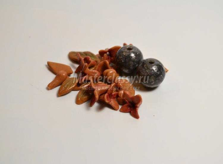 комплект украшений из полимерной глины
