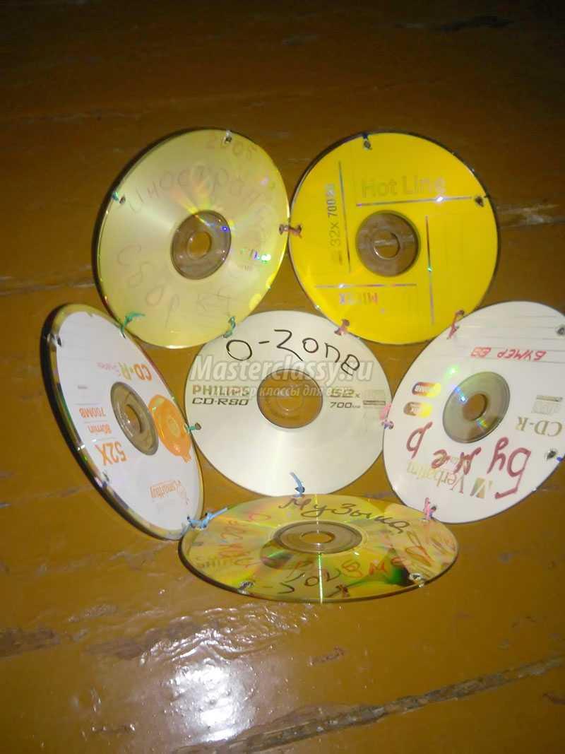украшение елки из ватных дисков