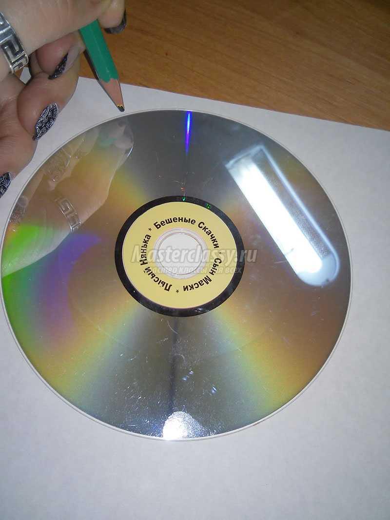 украшение на елку из дисков