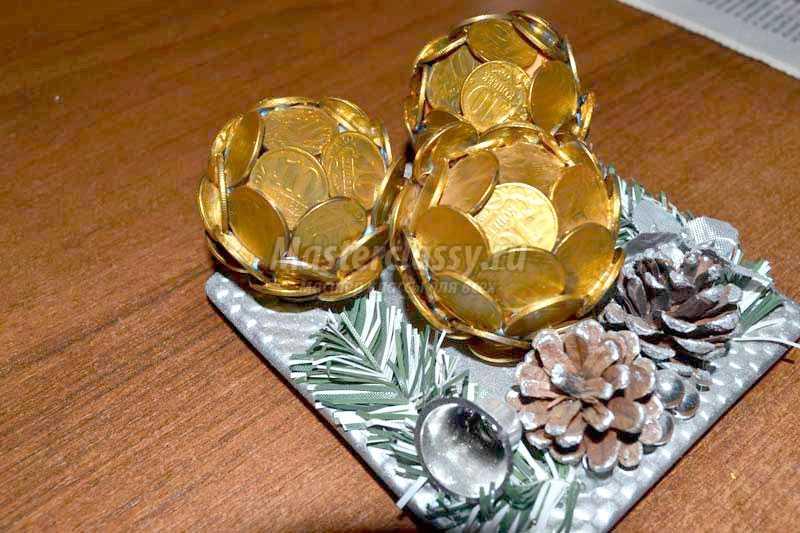 Монеты в поделках фото
