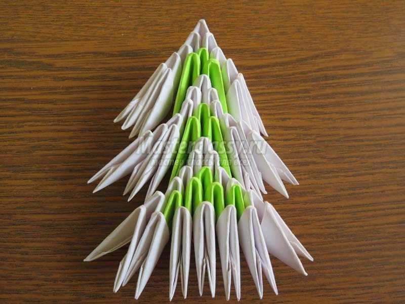 елочка из модулей оригами для начинающих