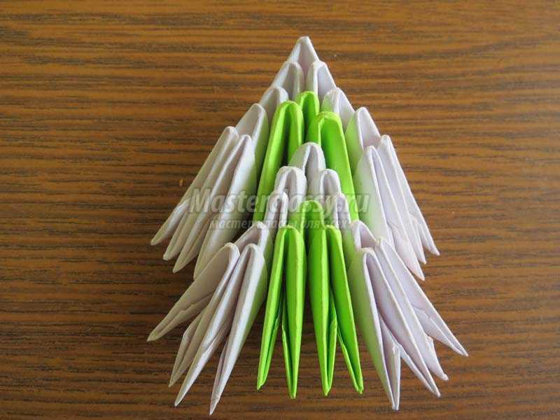 елочка из модулей оригами схема