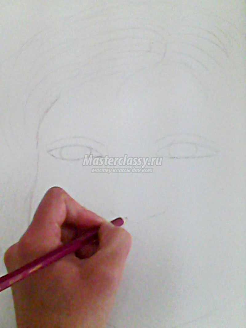 портрет мамы карандашом