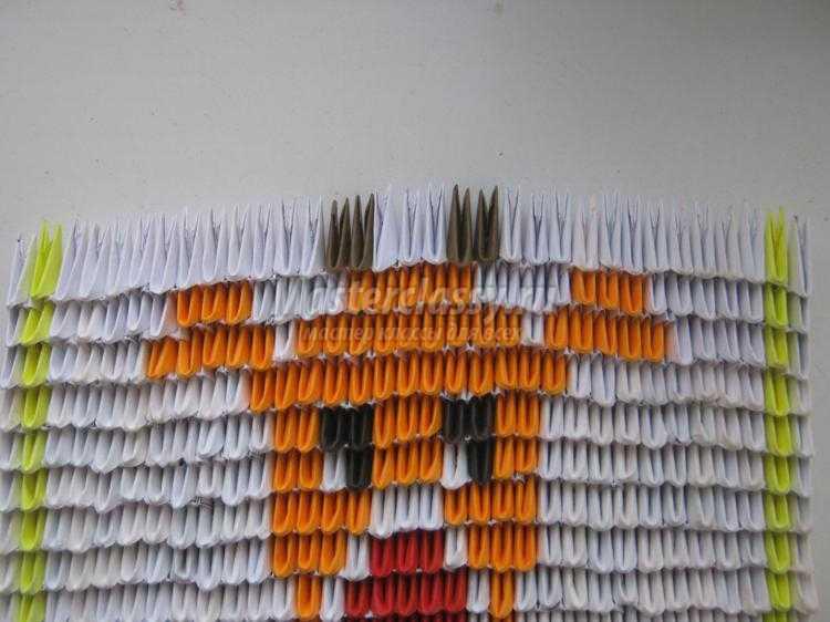 модульное оригами. Картина с оленем
