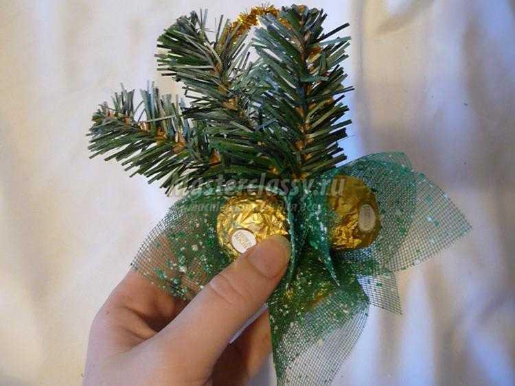 украшение новогоднее шампанское конфеты