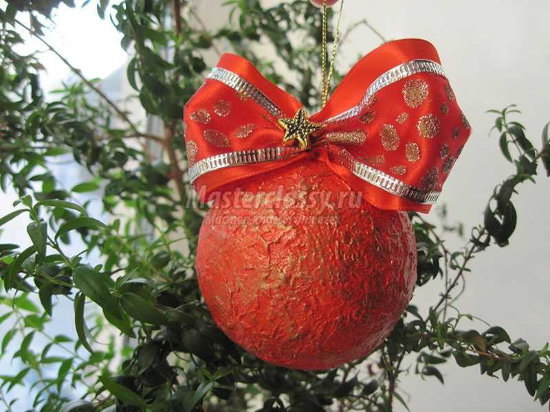 мастер класс новогодний шар