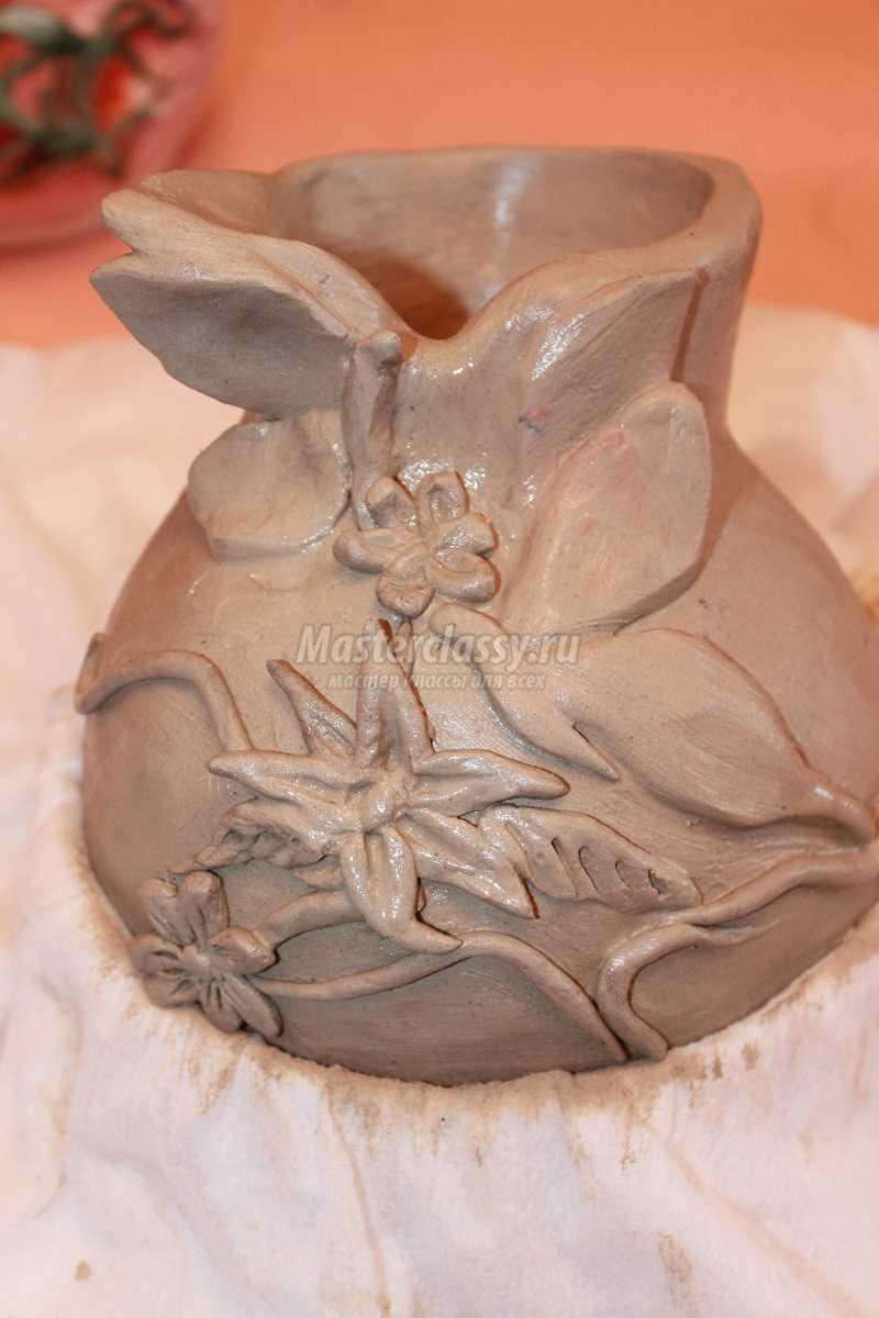 как делают вазы из глины
