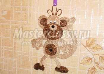 Озорная обезьянка - символ нового года. Мастер-класс