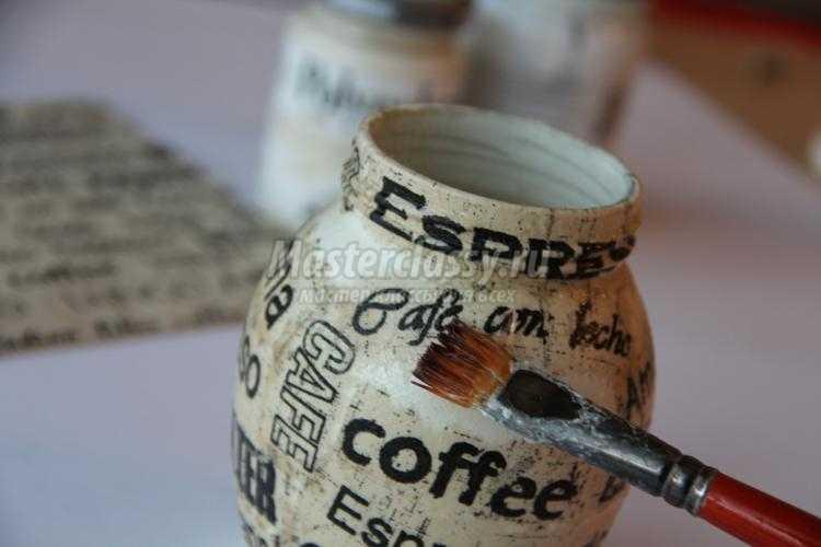 топиарий из кофейных зерен. Изысканный