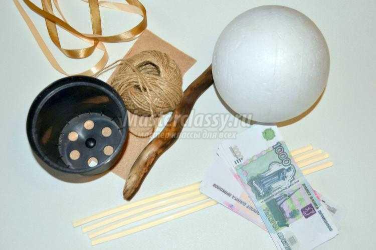 1452328627_1_750x500 Как сделать топиарий из купюр своими руками мастер-класс: деньги и материалы для его изготовления