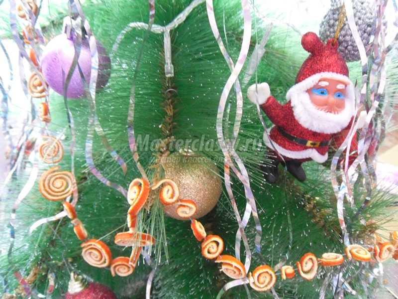 новогодние бусы на елку своими руками