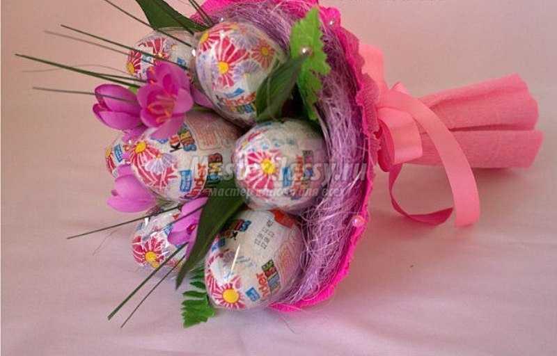 Подарок ребенку своими руками на день рождения из конфет