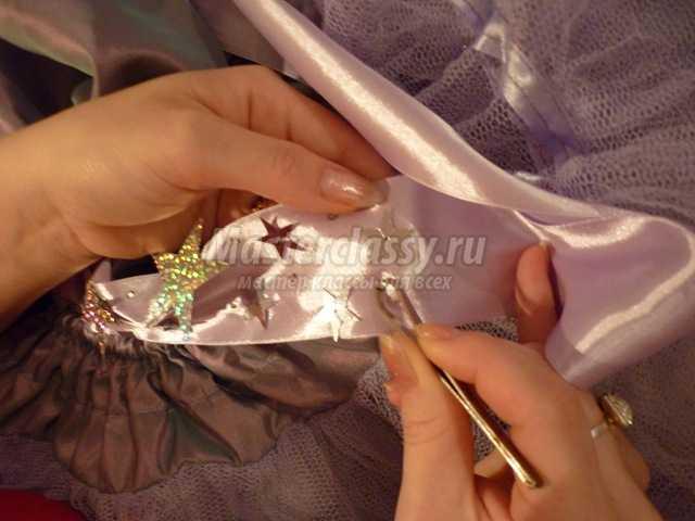Костюм звездочки для девочки на Новый год. Подробный мастер-класс с фото