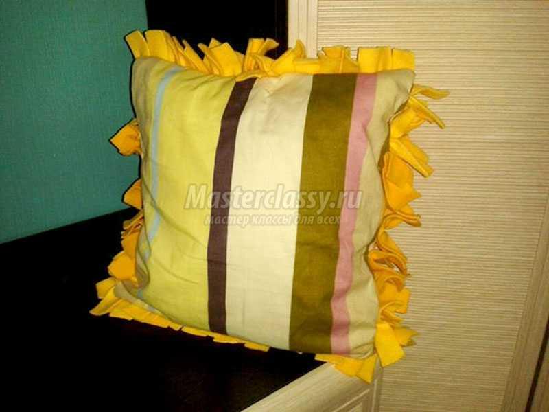 подушки из флиса своими руками