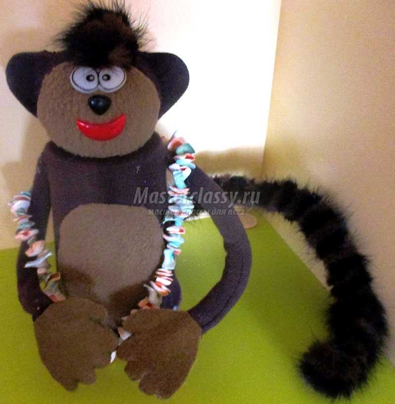 игрушка обезьянка из бросового материала