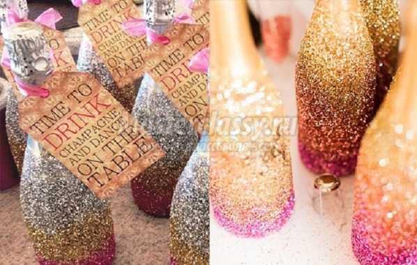 1453483049_6 Бутылка шампанского на Новый год своими руками. 50 идей и подробные мастер-классы с фото