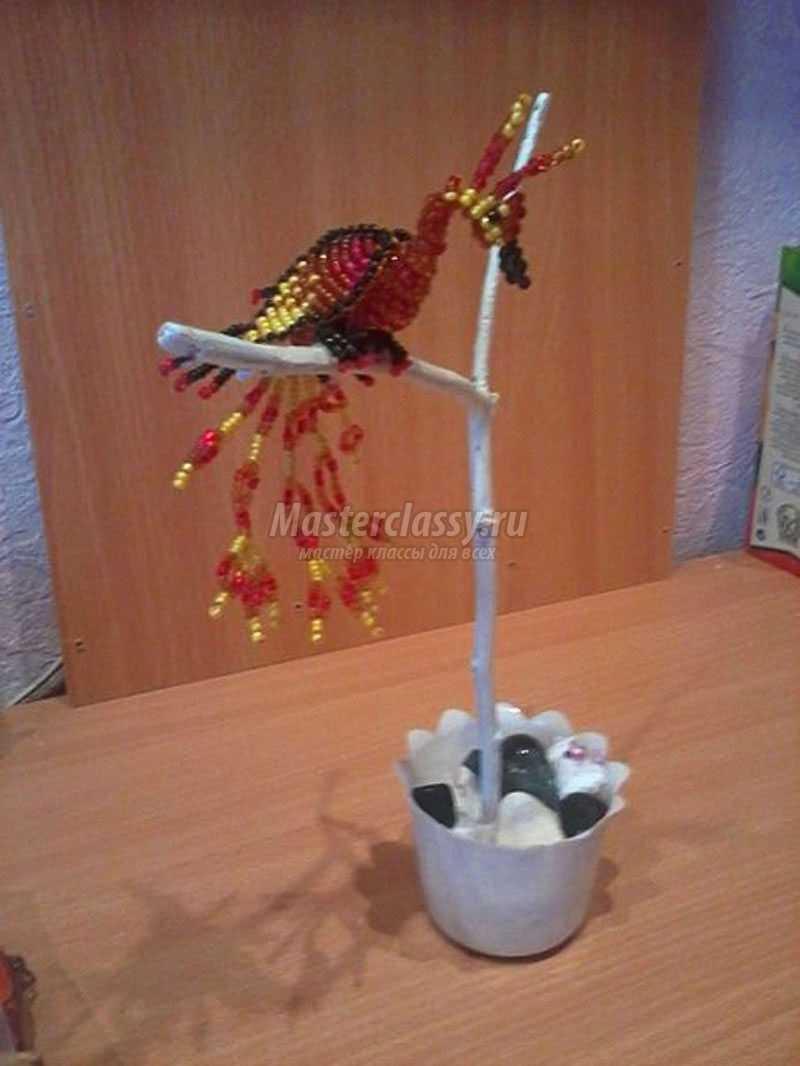 жар птица из бисера объёмная схема