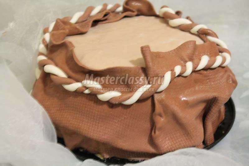 торт мешок с деньгами пошагово