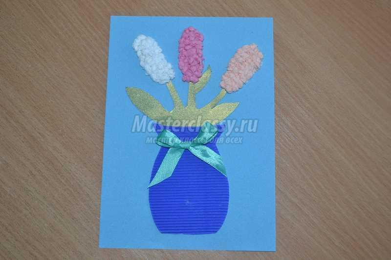 поделки открытки из салфеток