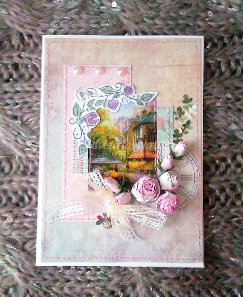 открытка конверт скрапбукинг