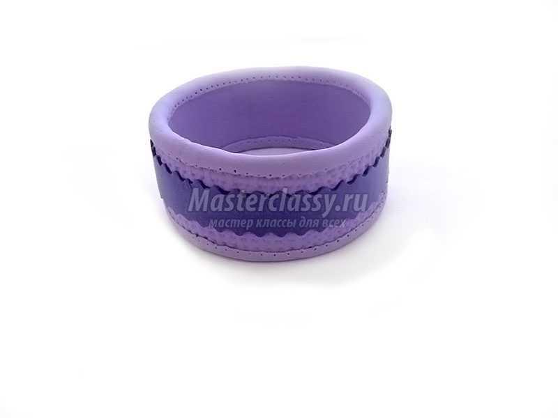 браслет из полимерной глины мастер класс