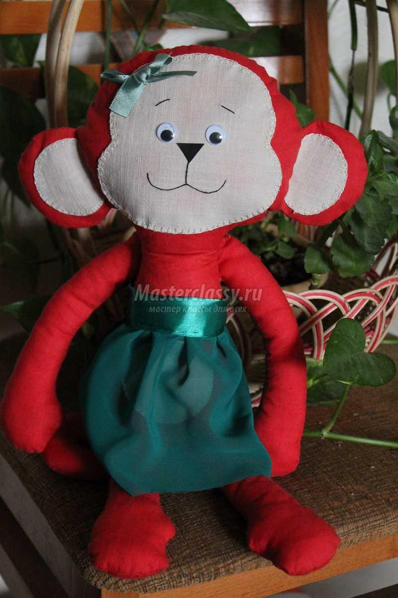 как сшить обезьянку из ткани