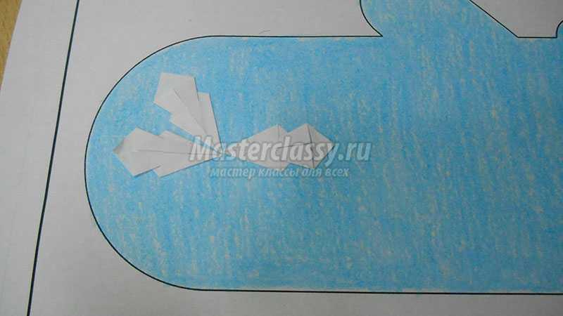 аппликация варежки из бумаги