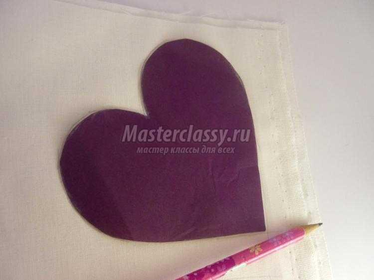 текстильное сердце к 14 февраля