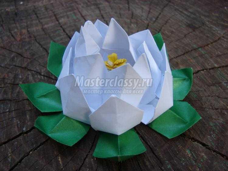 1455619072_foto29_750x562 Лотос из бумаги в технике оригами. Мастер-класс с пошаговыми фото