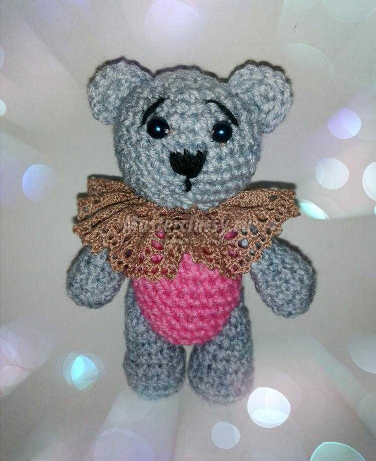 вязаный медвежонок амигуруми крючком мастер класс с пошаговыми фото