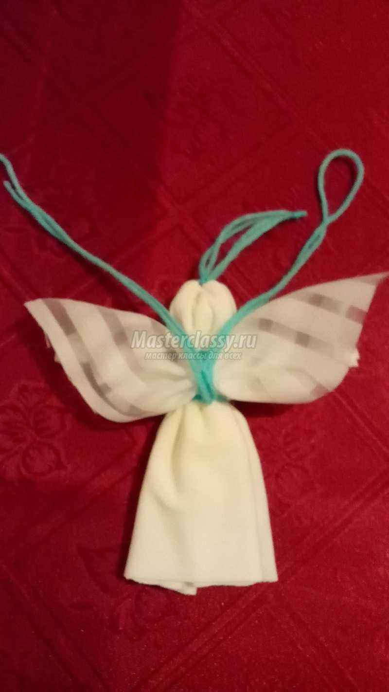 как сделать ангелочка своими руками из ткани