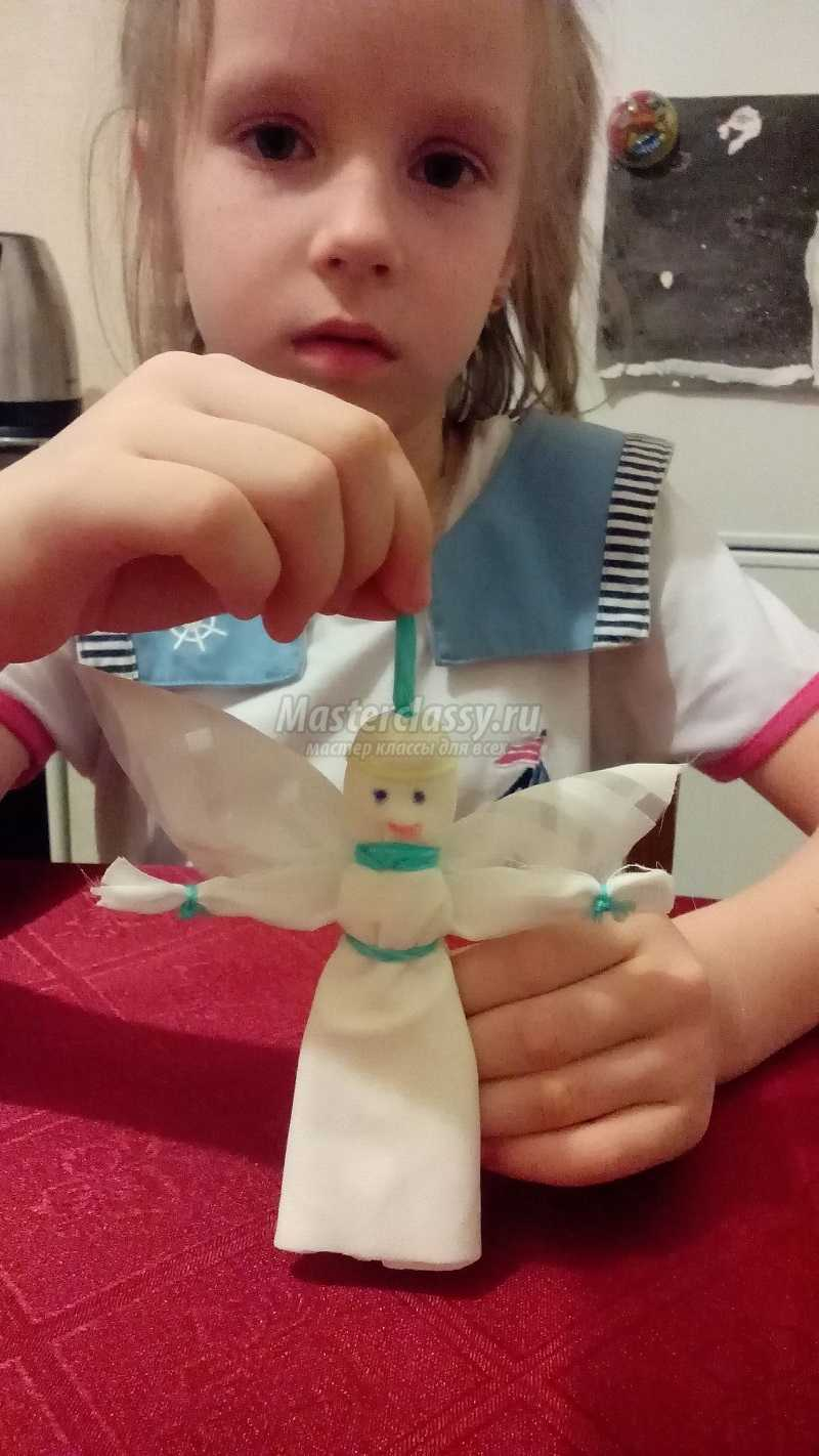 ангелочек из ткани мастер класс