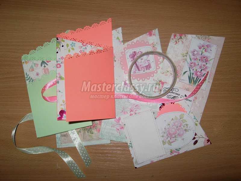 открытки на 8 марта скрапбукинг своими руками