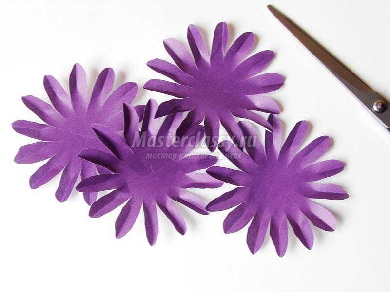 цветок+из бумаги гербера