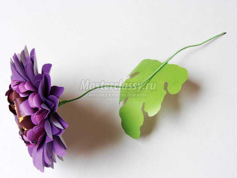 цветы герберы из бумаги своими руками