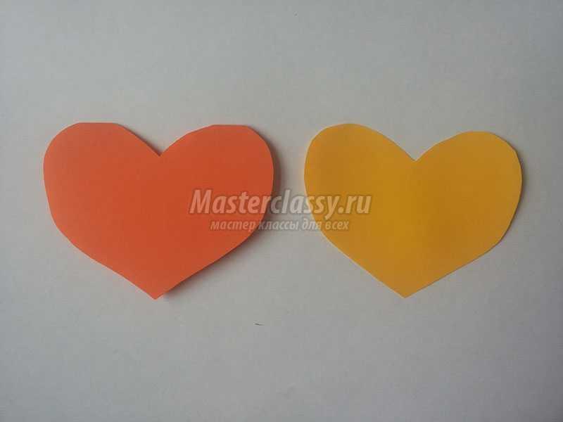 валентинки из цветной бумаги