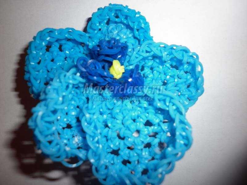 плетение резиночками цветы