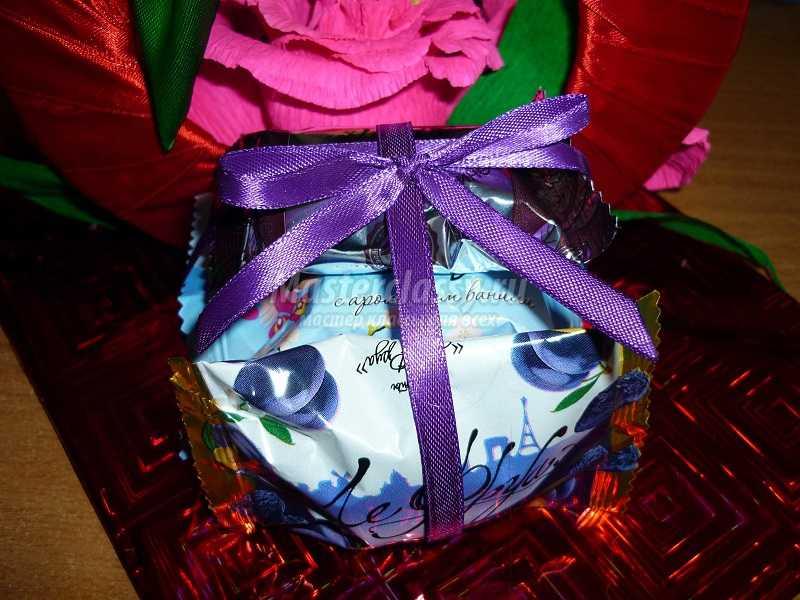 подарки из атласных лент фото