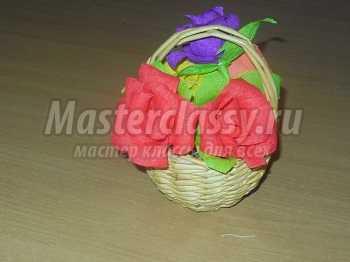 Мастер класс «Корзиночка  в подарок  на 8 марта». Мастер – класс с пошаговым фото