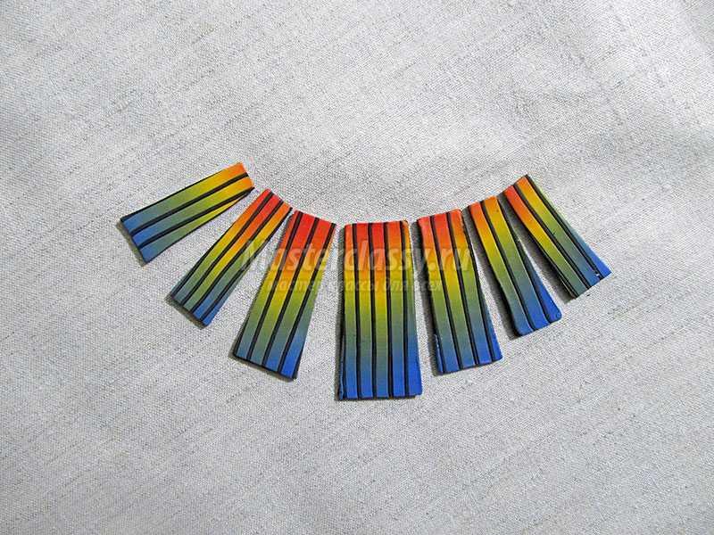 ожерелье из полимерной глины мастер класс