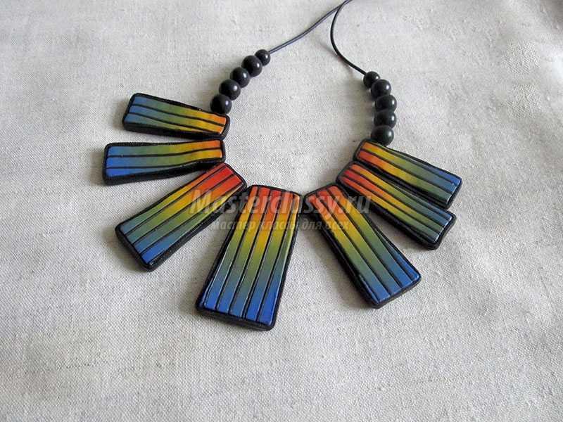 ожерелье из полимерной глины фото