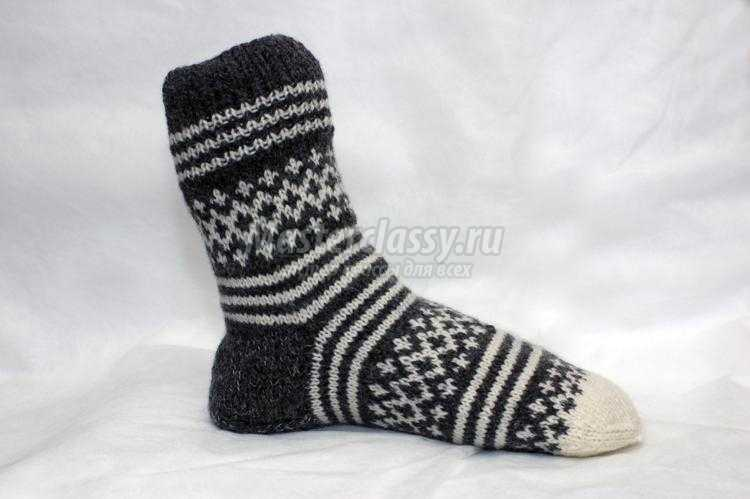 Вязаные носки спицами с рисунком. Мастер-класс с ...