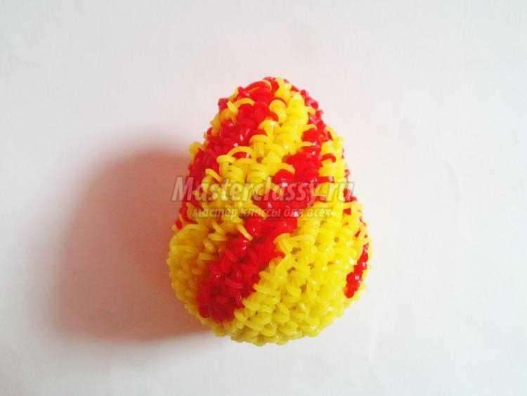 пасхальное яйцо из резинок крючком